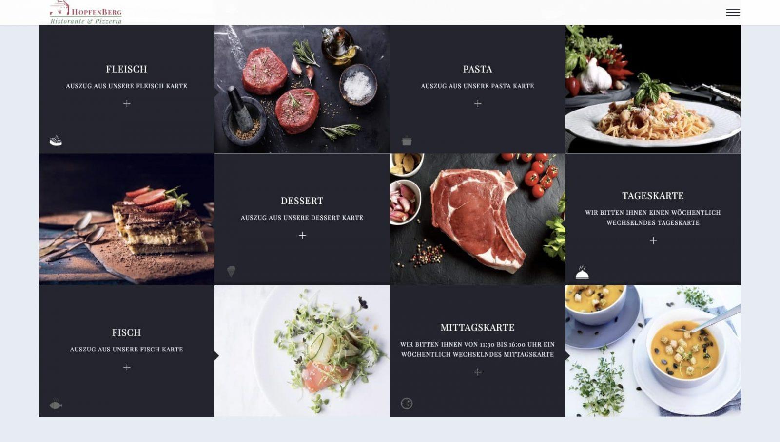 sviluppo sito web • Ristorante Hopfenberg