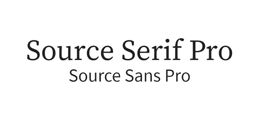 font source serif pro, google font source sans pro