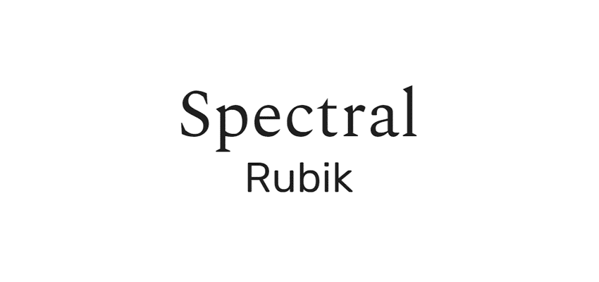 google font spectral, rubik google web font