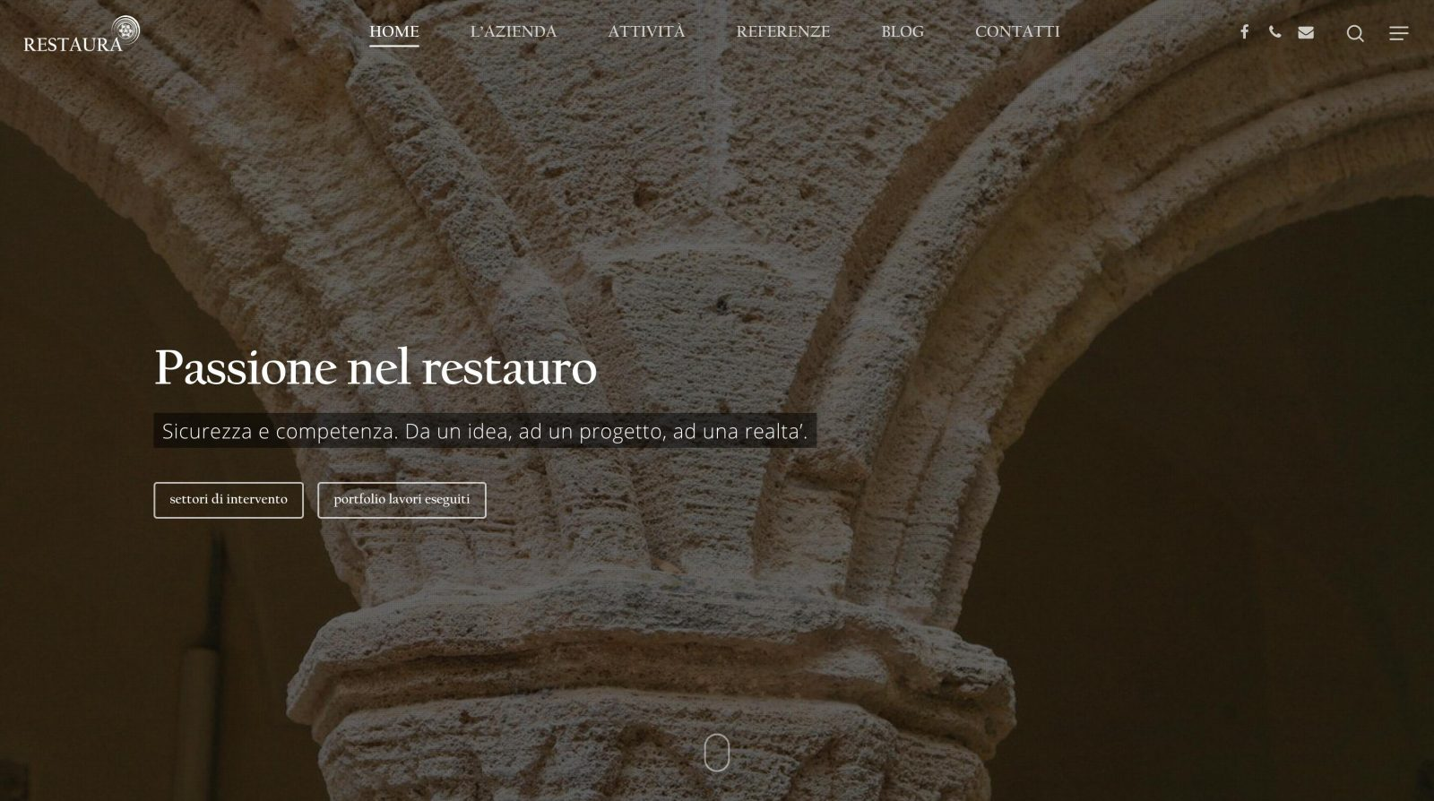 sito web • impresa Restaura