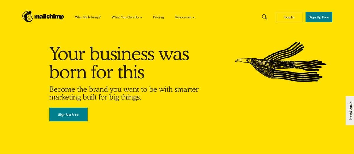 tipografia vintage, web design trends 2019